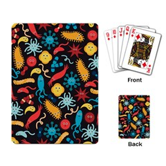 Worm Insect Bacteria Monster Playing Card by Mariart