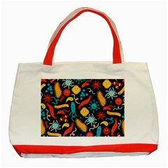 Worm Insect Bacteria Monster Classic Tote Bag (red) by Mariart