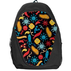 Worm Insect Bacteria Monster Backpack Bag by Mariart