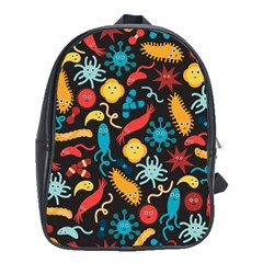 Worm Insect Bacteria Monster School Bags (xl)  by Mariart