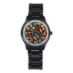 Worm Insect Bacteria Monster Stainless Steel Round Watch by Mariart