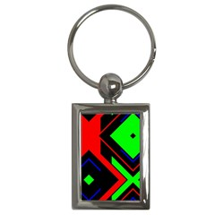 Desert Eagle Bronze Deco Pattern Texture Key Chains (rectangle)  by Mariart