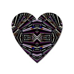Dark Ethnic Sharp Bold Pattern Heart Magnet by dflcprints