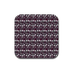 Circles Dots Background Texture Rubber Square Coaster (4 Pack)  by Mariart