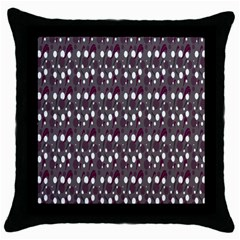 Circles Dots Background Texture Throw Pillow Case (black) by Mariart