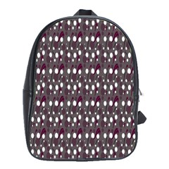 Circles Dots Background Texture School Bags(large)