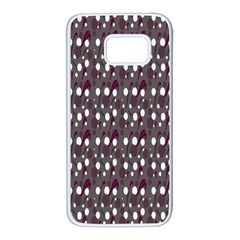 Circles Dots Background Texture Samsung Galaxy S7 White Seamless Case by Mariart
