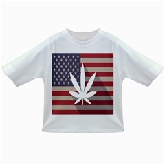 Flag American Star Blue Line White Red Marijuana Leaf Infant/toddler T Shirts by Mariart