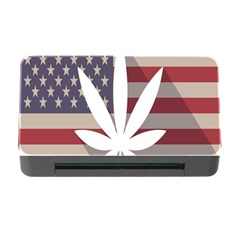 Flag American Star Blue Line White Red Marijuana Leaf Memory Card Reader With Cf by Mariart