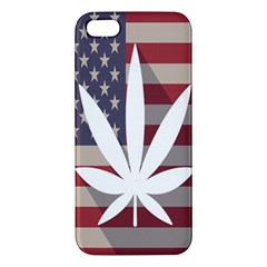Flag American Star Blue Line White Red Marijuana Leaf Iphone 5s/ Se Premium Hardshell Case by Mariart