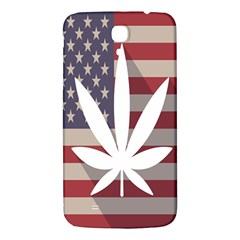 Flag American Star Blue Line White Red Marijuana Leaf Samsung Galaxy Mega I9200 Hardshell Back Case by Mariart