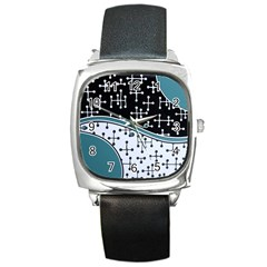 Decoboom Custom Pickguard Engraved Eames Dots Square Metal Watch by Mariart