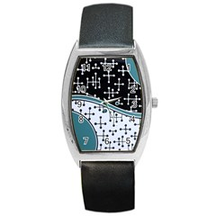 Decoboom Custom Pickguard Engraved Eames Dots Barrel Style Metal Watch by Mariart