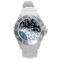 Decoboom Custom Pickguard Engraved Eames Dots Round Plastic Sport Watch (l) by Mariart