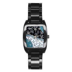 Decoboom Custom Pickguard Engraved Eames Dots Stainless Steel Barrel Watch by Mariart