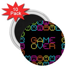 Game Face Mask Sign 2 25  Magnets (10 Pack)  by Mariart