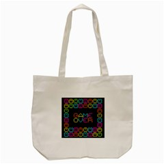Game Face Mask Sign Tote Bag (cream) by Mariart