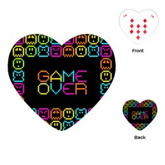 Game Face Mask Sign Playing Cards (heart)  by Mariart
