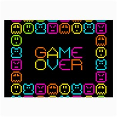 Game Face Mask Sign Large Glasses Cloth (2 Side) by Mariart