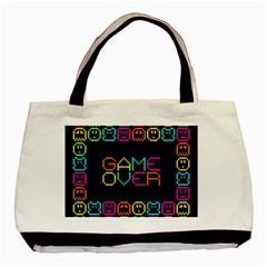 Game Face Mask Sign Basic Tote Bag (two Sides) by Mariart