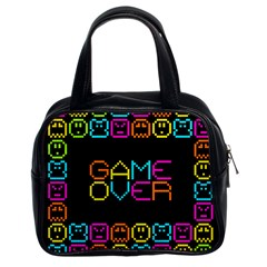 Game Face Mask Sign Classic Handbags (2 Sides) by Mariart