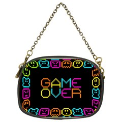 Game Face Mask Sign Chain Purses (one Side)