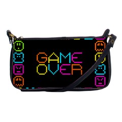 Game Face Mask Sign Shoulder Clutch Bags by Mariart
