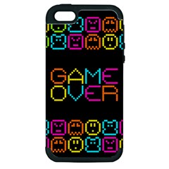 Game Face Mask Sign Apple Iphone 5 Hardshell Case (pc+silicone) by Mariart