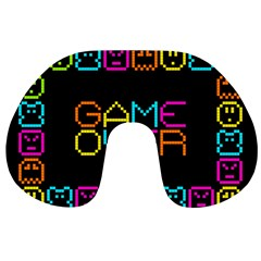 Game Face Mask Sign Travel Neck Pillows by Mariart