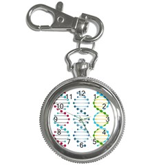 Genetic Dna Blood Flow Cells Key Chain Watches by Mariart