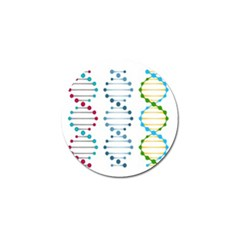 Genetic Dna Blood Flow Cells Golf Ball Marker (4 Pack) by Mariart