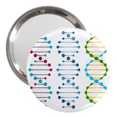 Genetic Dna Blood Flow Cells 3  Handbag Mirrors by Mariart