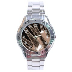 Head Lice Killer Hair Stainless Steel Analogue Watch by Mariart