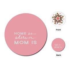 Home Love Mom Sexy Pink Playing Cards (round)