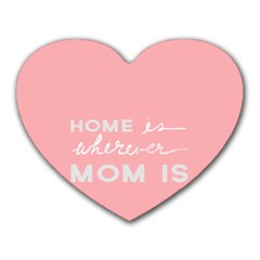 Home Love Mom Sexy Pink Heart Mousepads by Mariart