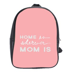 Home Love Mom Sexy Pink School Bags(large)