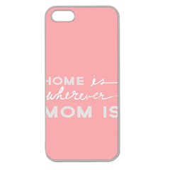 Home Love Mom Sexy Pink Apple Seamless Iphone 5 Case (clear) by Mariart