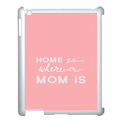 Home Love Mom Sexy Pink Apple Ipad 3/4 Case (white) by Mariart