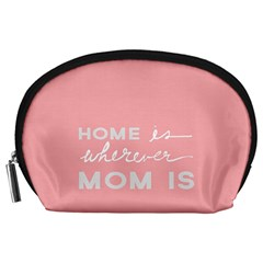 Home Love Mom Sexy Pink Accessory Pouches (large)  by Mariart