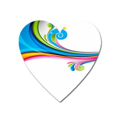 Colored Lines Rainbow Heart Magnet by Mariart
