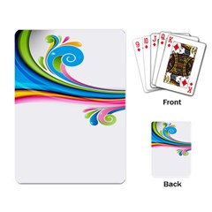 Colored Lines Rainbow Playing Card by Mariart