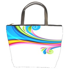 Colored Lines Rainbow Bucket Bags by Mariart