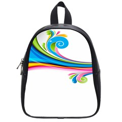 Colored Lines Rainbow School Bags (small)  by Mariart