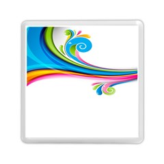Colored Lines Rainbow Memory Card Reader (square)  by Mariart