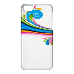 Colored Lines Rainbow Apple Iphone 5c Hardshell Case by Mariart