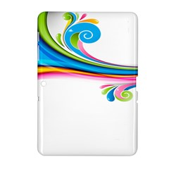 Colored Lines Rainbow Samsung Galaxy Tab 2 (10 1 ) P5100 Hardshell Case  by Mariart