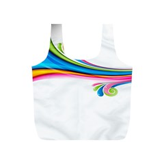 Colored Lines Rainbow Full Print Recycle Bags (s)