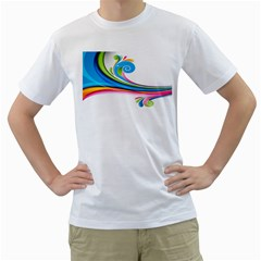 Colored Lines Rainbow Men s T Shirt (white)