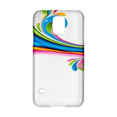 Colored Lines Rainbow Samsung Galaxy S5 Hardshell Case  by Mariart