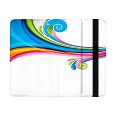 Colored Lines Rainbow Samsung Galaxy Tab Pro 8 4  Flip Case by Mariart